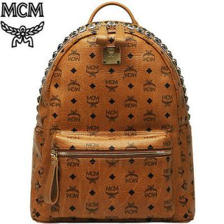 MCM New Stark Backpack Cognac Visetos Medium Size 2012FW New