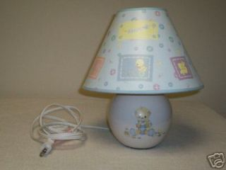 precious moments baby nursery lamp with shade