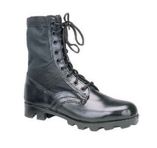 military jungle boots black leather army combat g i