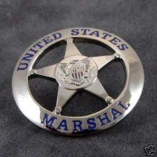 Marshal Service USMS Lapel Pin Emblem Toy Prop Novelty Silver 1