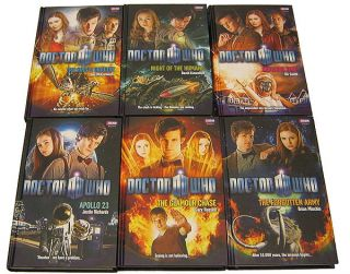 of 6 Doctor Who Hardcover Books, 11th Dr. Matt Smith, NON MINT sci fi