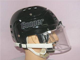 vintage hockey black helmet cooper sk600 w visor large from