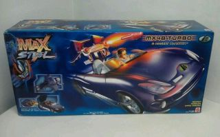 Mattel Max Steel MX48 TURBO & ROCKET BLASTER Sports Car New & Sealed