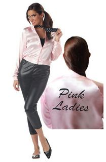 Grease Pink Ladies Satin Jacket Only Adult Costume Adult Costume Size