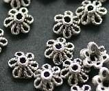 Antique Style 100pcs Tibetan Silver Tone Small Flower Bead Caps 5mm