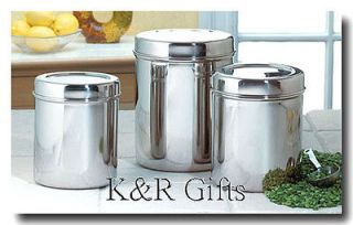 KITCHEN CANISTER SET 3 Stainless Steel Fresh Food Storage Containers