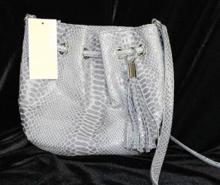 michael kors snakeskin leather ring tote crossbody bag retail $ 168