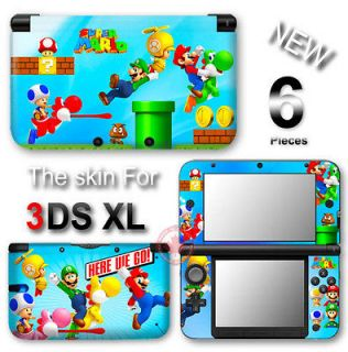 Classic Super Mario Cute VINYL STICKER DECAL COVER Skin for Nintendo