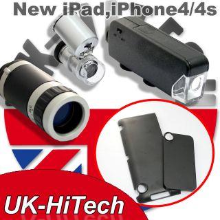 60x Zoom Microscope+Telescope+LED Light+Hard Back Case Cover For