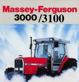 MASSEY FERGUSON 3000 3100 TRACTOR SERVICE OPERATORS MANUAL 3050 3060