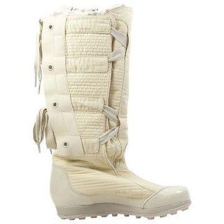 Adidas Stella McCartney Salju Fashion Boots Cream Hi High Tops Warm