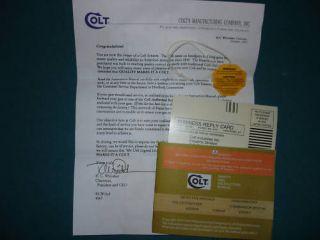 colt cobra agent viper paperwork set  23