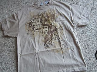 NWT New Michael Waddell BONE COLLECTOR T Shirt Shirt Sand Skull & Tree