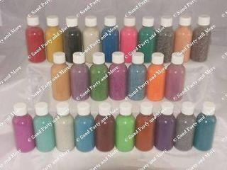 10  2 oz Sand Art Bottles w/sand arts crafts Screw Cap