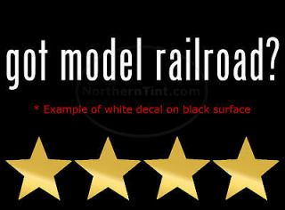 got model railroad vinyl wall art car decal sticker more