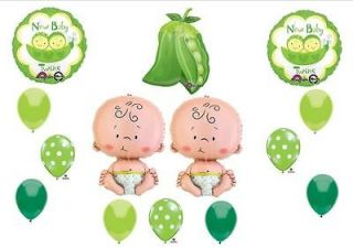 twin peas in a pod baby shower balloons decorations supplies
