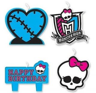 MONSTER HIGH Birthday Party Candles Cake Cupcake Topper Decorating
