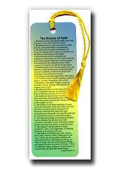 LDS Articles of Faith Bookmark   Primary, Primary Gift, Missionary