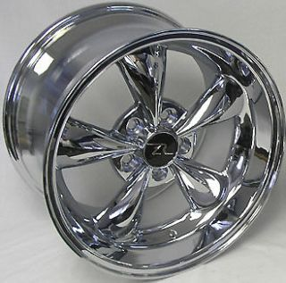 Deep Dish Mustang Chrome Bullitt Wheels 17x9 & 10.5 fits 1994 `04