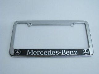 Newly listed MERCEDES BENZ HALO CHROMED METAL LICENSE FRAME (Fits