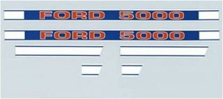 new ford tractor 5000 hood decal kit set f504hb time