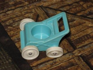 vintage fisher price little people blue baby stroller time left