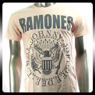 Ramones American Punk Metal Rock Band T shirt Sz L Biker RAM34