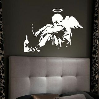 GIANT BANKSY FALLEN ANGEL BEDROOM 85CMx115CM LARGE WALL MURAL ART