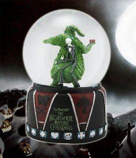 NECA Nightmare Before Christmas JACK & OOGIE Snow globe Waterball TIM