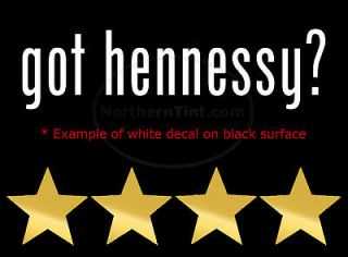 got hennessy vinyl wall art truck car decal sticker more