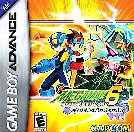 Mega Man Battle Network 6 Cybeast Gregar Nintendo Game Boy Advance