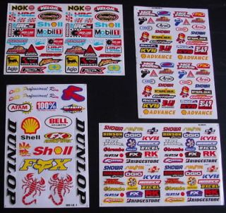 SHEETS MOTOCROSS Stickers MOPED BMX BIKE SCOOTER Energy Drink ps3 MX