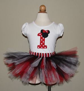 Cute Minnie Mouse Birthday Tutu Set. (Numbers 1 9 available)