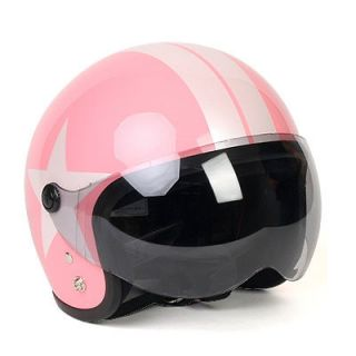 motorcycle vespa scooter jet helmet open face pink from korea