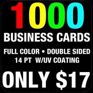 1000 CUSTOM FULL COLOR BUSINESS CARDS + FREE DESIGN
