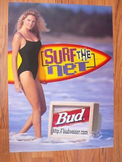 Newly listed 1996 Promo Budweiser Beer Sexy Surfer Girl Poster