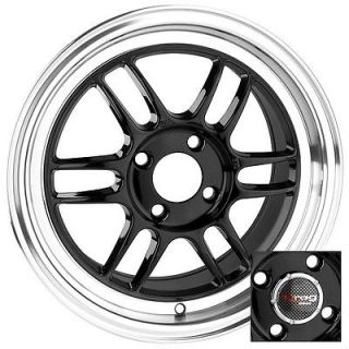 15 4x100 dr21 bk wheel rims nissan sentra 200sx maxima