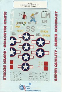SuperScale Decals P 47D Razorback Aces 56th FG Aces Schilling & ONeil
