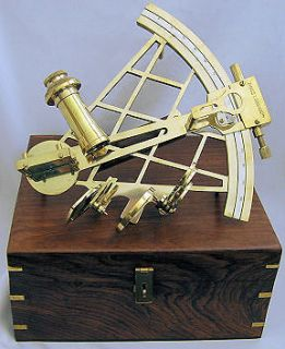 Newly listed ROSS LONDON Brass 10in Slow Motion Sextant with Box