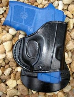 BODYGUARD 380 w/ LASER BLACK LEATHER PADDLE HOLSTER RIGHT HAND