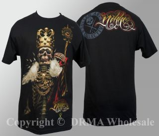 Authentic SULLEN CLOTHING Nikko Skull King Tattoo T Shirt M L XL XXL