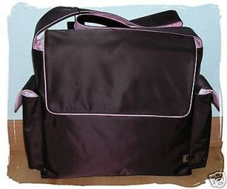 NEW DESIGNER OiOi BROWN PINK GIRL BABY DIAPER MESSENGER BAG OI CLASSIC