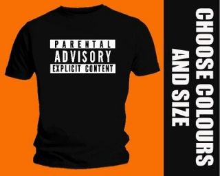 Lyrics Parental Advisory T SHIRT   Rap Hip Hop   90s old school logo