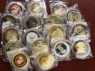 lot of 17 military challenge coins s538 from china time