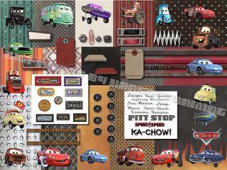 DIGITAL SCRAPBOOKING KIT~DISNEY PIXAR CARS*CD DISNEY CARS KIT FOR