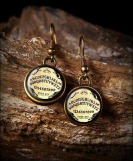 ouija board horror antique bronze earrings seb 415 time left