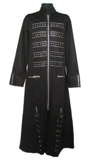mens dead threads trench coat cyber punk gothic zip more