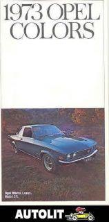1973 opel manta rallye gt paint color brochure