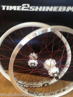 Custom BMX Wheelset Profile Elite Hubset In White Alienation Deviant