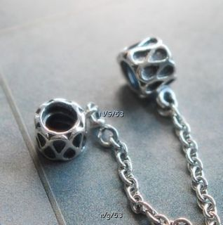 authentic pandora bead charm safety chain 790315 raindrop rain drop